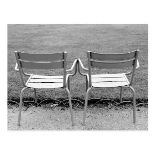 Europe, France, Paris. Chairs, Jardin du 2 Postcards