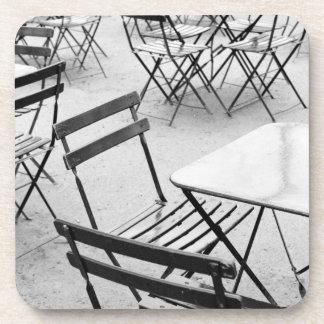 Europe, France, Paris. Chairs, Jardin du 3 Drink Coasters