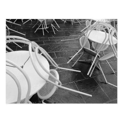 Europe, France, Paris. Chairs, Jardin du 4 Post Card