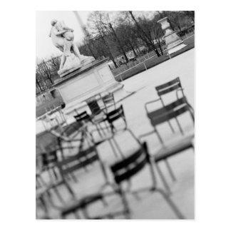Europe, France, Paris. Chairs, Jardin du Postcard