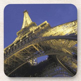 Europe, France, Paris, Eiffel Tower, evening 2 Beverage Coasters
