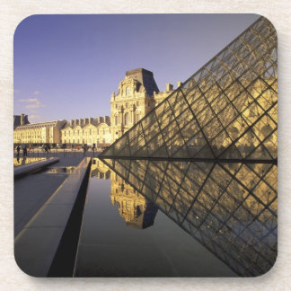 Europe, France, Paris. Le Louvre and glass Coasters