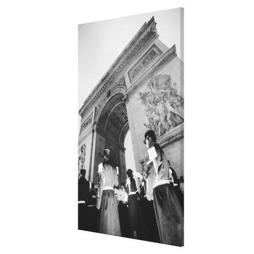 Europe, France, Paris. Military ceremony at the Canvas Print