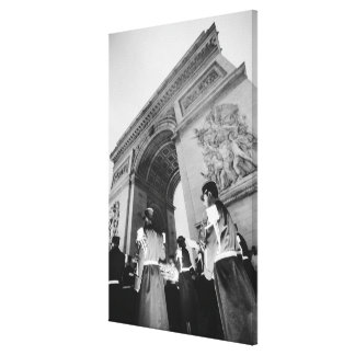 Europe, France, Paris. Military ceremony at the Stretched Canvas Prints