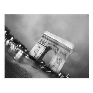 Europe, France, Paris. Spinning Arc de Triomphe Postcard