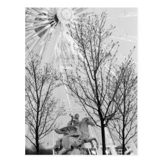 Europe, France, Paris. Statue and Ferris Wheel, Post Cards