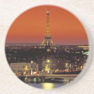 Europe, France, Paris. Sunset view of Eiffel Beverage Coasters