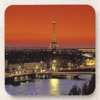 Europe, France, Paris. Sunset view of Eiffel Coasters