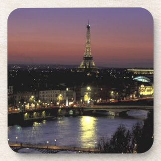 Europe, France, Paris, Sunset view of Eiffel Drink Coaster