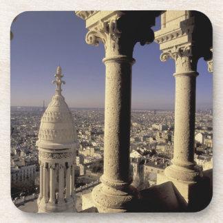 Europe, France, Paris, View of Paris through Drink Coaster