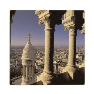 Europe, France, Paris, View of Paris through Maple Wood Coaster