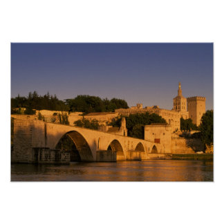 Europe, France, Provence, Avignon. Palais des 2 Poster