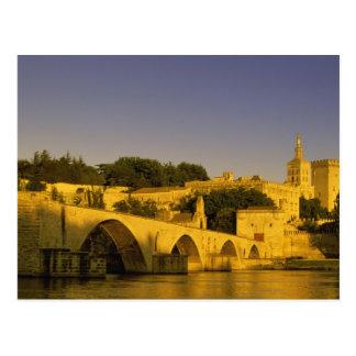 Europe, France, Provence, Avignon. Pont St, 2 Postcard