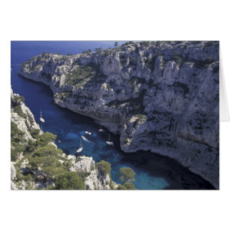 Europe, France, Provence, Calanques. Limestone Card