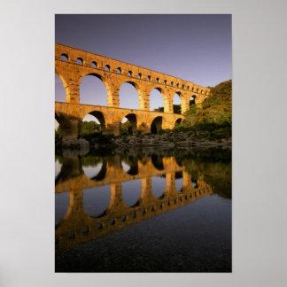 Europe, France, Provence, Gard. Pont du Gard, Poster