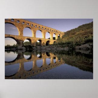Europe, France, Provence, Gard; Pont du Gard, Poster