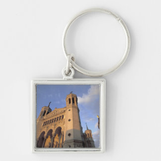 Europe, France, Rhone Valley, Vallee du Rhone, Silver-Colored Square Key Ring
