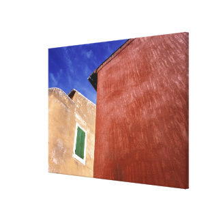 Europe, France, Roussillon. Colorful walls are Gallery Wrap Canvas
