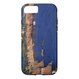 Europe, France, Theoule-sur-Mer. A tile-roofed iPhone 7 Case