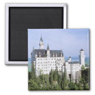 Europe, Germany, Neuschwanstein Castle, built Square Magnet
