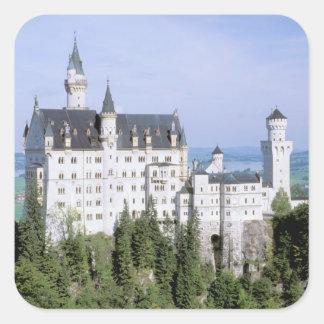 Europe, Germany, Neuschwanstein Castle, built Square Sticker