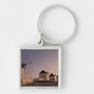 Europe, Greece, Cyclades Islands, Mykonos, Silver-Colored Square Key Ring