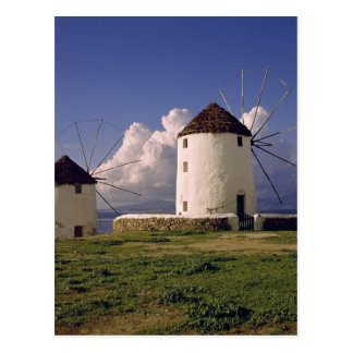 Europe, Greece, Mykonos. White-washed Postcards