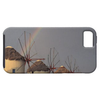 Europe, Greece, Mykonos. wind mill with rainbow iPhone 5 Cases