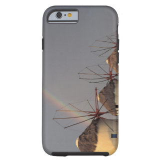 Europe, Greece, Mykonos. wind mill with rainbow Tough iPhone 6 Case