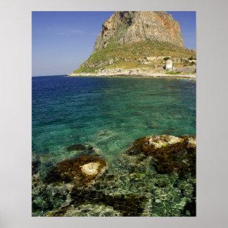 Europe, Greece, Peloponnese, Monemvasia. The Poster