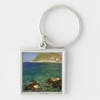 Europe, Greece, Peloponnese, Monemvasia. The Silver-Colored Square Key Ring