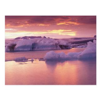Europe, Iceland, Jokulsarlon lagoon Postcard