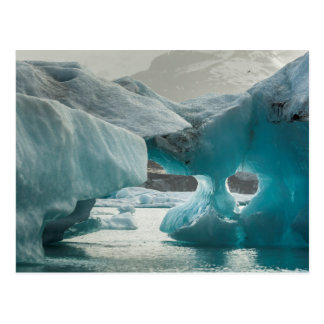 Europe, Iceland, JokUSArlon. Iceberg Formations Postcard