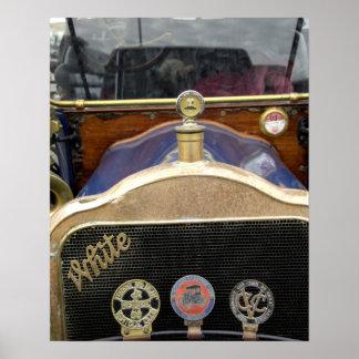 Europe, Ireland, Dublin. Vintage auto, White 2 Poster