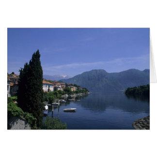 Europe, Italy, Lake Como, Tremezzo. Northern Greeting Card
