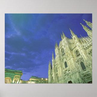 Europe, Italy, Lombardia, Milan. The Duomo, Poster
