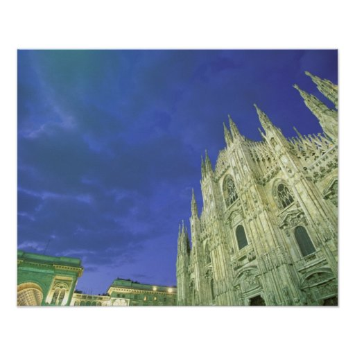 Europe, Italy, Lombardia, Milan. The Duomo, Print