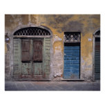 Europe, Italy, Lucca. These old doors add Print
