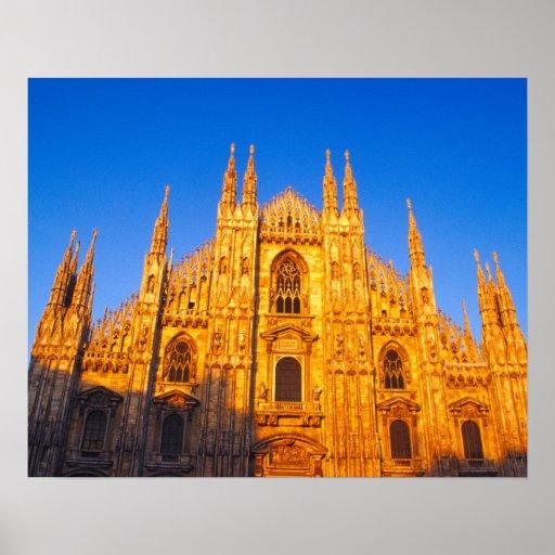 Europe, Italy, Milan, Cathedral of Milan Poster