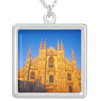 Europe, Italy, Milan, Cathedral of Milan Silver Plated Necklace