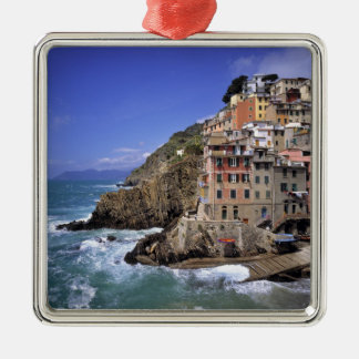 Europe, Italy, Riomaggiore. Riomaggiore is built Metal Ornament