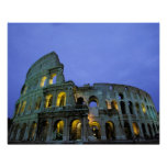 Europe, Italy, Rome. Evening view of the Posters