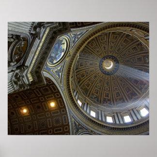Europe, Italy, Rome. St. Peter's Basilica (aka Poster