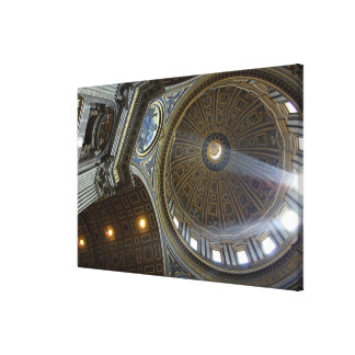 Europe, Italy, Rome. St. Peter's Basilica (aka Stretched Canvas Print