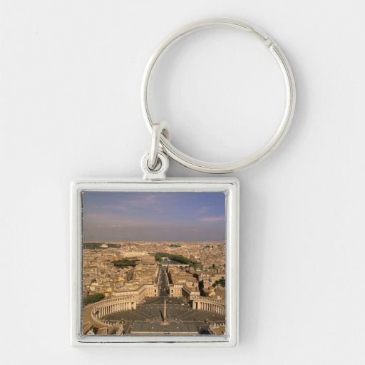 Europe, Italy, Rome, The Vatican. View from St. Key Chain