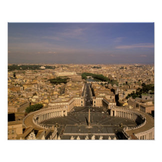 Europe, Italy, Rome, The Vatican. View from St. Poster