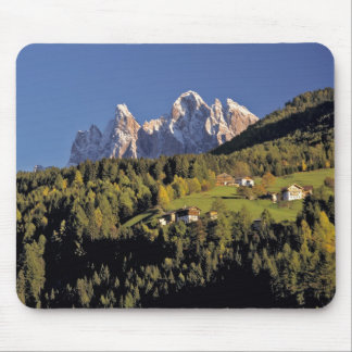 Europe, Italy, San Pietro. The Odle Group seem Mouse Pad