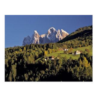 Europe, Italy, San Pietro. The Odle Group seem Postcard