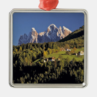 Europe, Italy, San Pietro. The Odle Group seem Silver-Colored Square Decoration