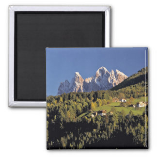 Europe, Italy, San Pietro. The Odle Group seem Square Magnet